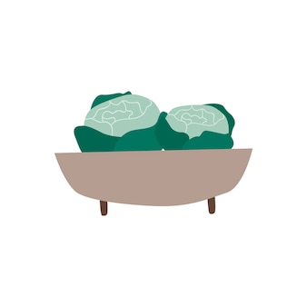 Bowl with organic greens healthy food vector