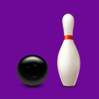 Боулинг мяч на фиолетовый