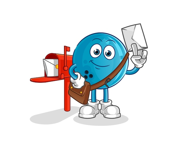Почтальон шара для боулинга мультипликационный персонаж