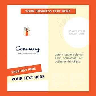 Bowling  company brochure template