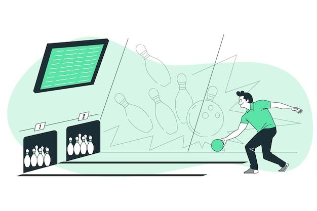 Illustrazione del concetto di bowling