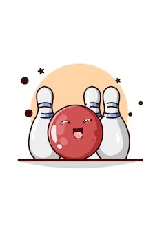 Иллюстрация боулинга