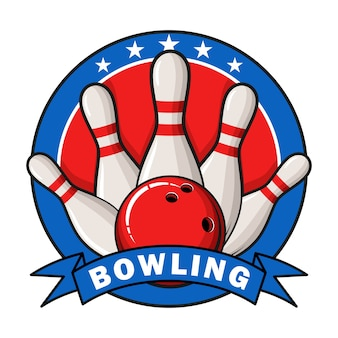 Bowling logo, labels, badges