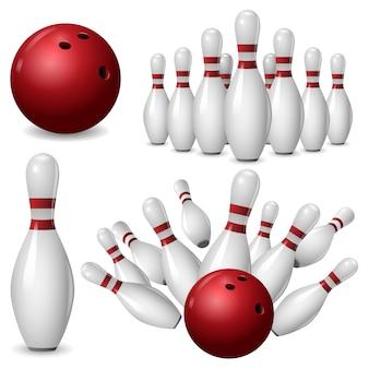 Bowling mockup set