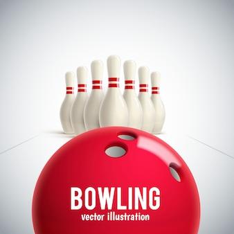 Bowling realistic theme eps 10