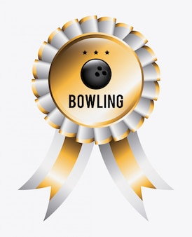 Bowling ribbon with ball