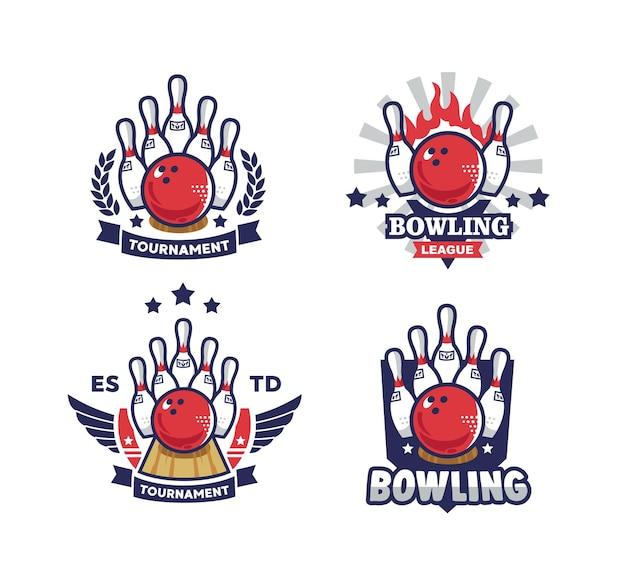 Bowling set logo