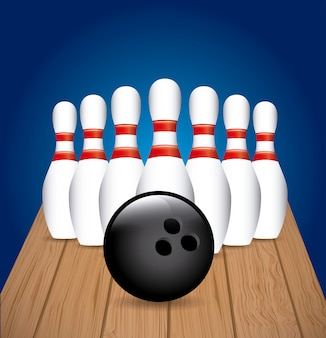 Bowling set with ball