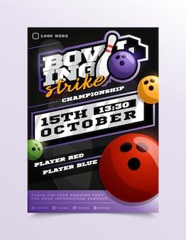 Bowling sport flyer