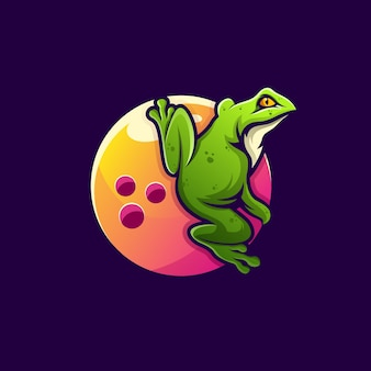 Bowling with frog logo