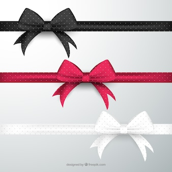 Bows in different colors