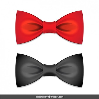 Bows red and black
