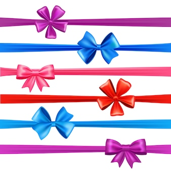 Bows and ribbons set
