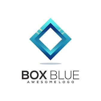 Box blue logo colorful gradient