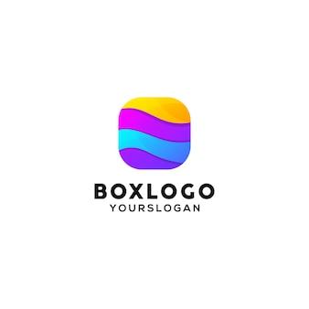 ボックスのカラフルなロゴデザインテンプレート