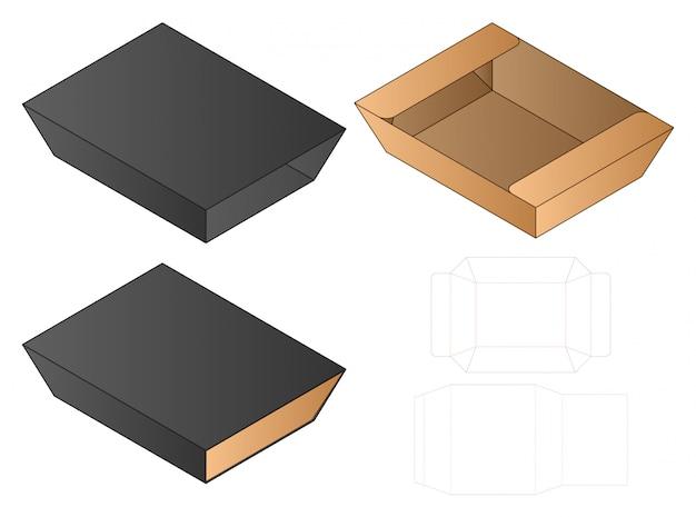 상자 컷 아웃 템플릿, 다이 컷 템플릿 디자인.
