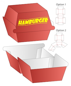 Box cut out template, die cut template design.
