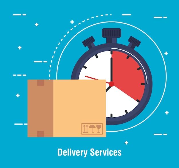 Значок службы доставки коробки