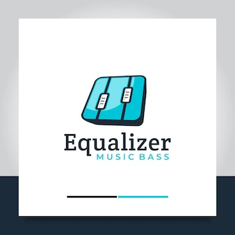 Коробка эквалайзера музыкальный дизайн логотипа