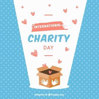 Box, hearts and international day of charity