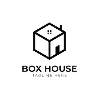 ボックスハウスのロゴ、不動産業者のロゴデザイン