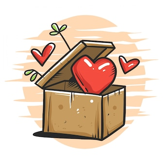 Коробка в любви