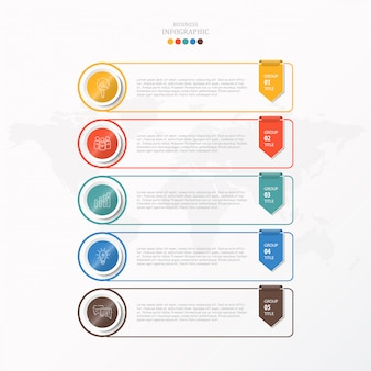 Box infographic for business