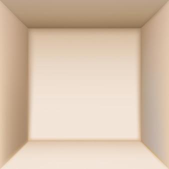 내부 상자. 하향식보기.