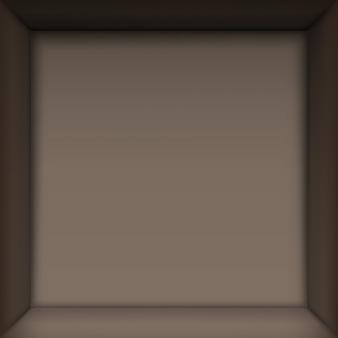 Коробка внутри. вид сверху вниз.