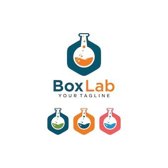 Box lab logo with laboratory glass