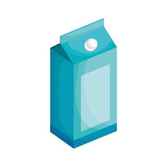 흰색 배경 위에 절연 상자 우유입니다. 벡터 일러스트 레이 션