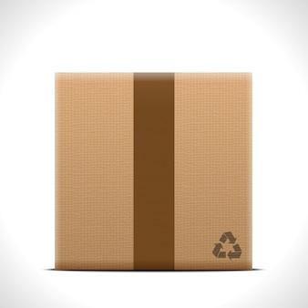 Коробка на белом фоне.