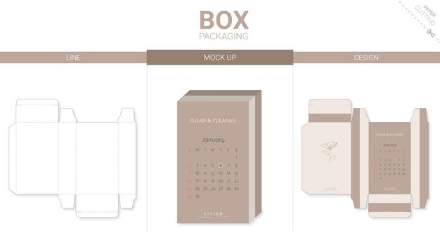 Упаковка коробки и шаблон для высечки включают каландр 2022