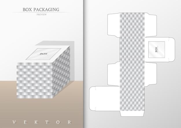 박스 포장 및 다이 컷 템플릿