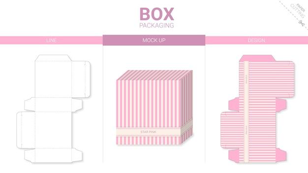Упаковка коробки и шаблон высечки