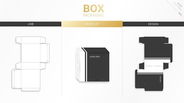 ボックスのパッケージとダイカットテンプレート