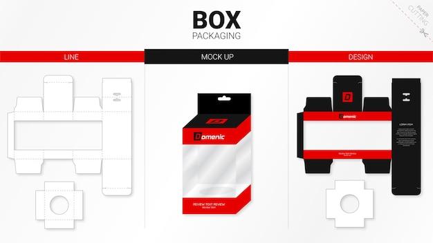 Коробка для упаковки и высечки шаблона для макета