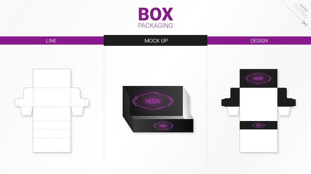 박스 포장 및 moackup 다이 컷 템플릿