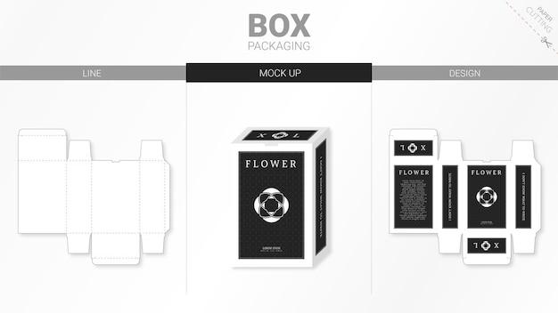 ボックス包装とmoackupダイカットテンプレート