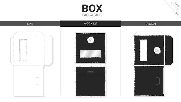 박스 포장 및 모형 다이 컷 템플릿