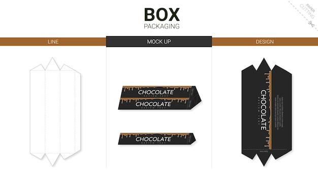 Коробка упаковки и макета высечки шаблона