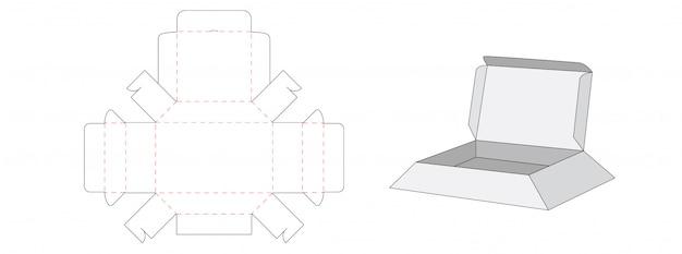Box packaging cut template design