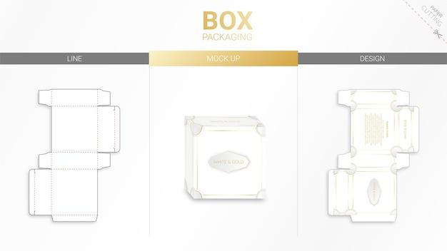 ボックス包装カットテンプレート