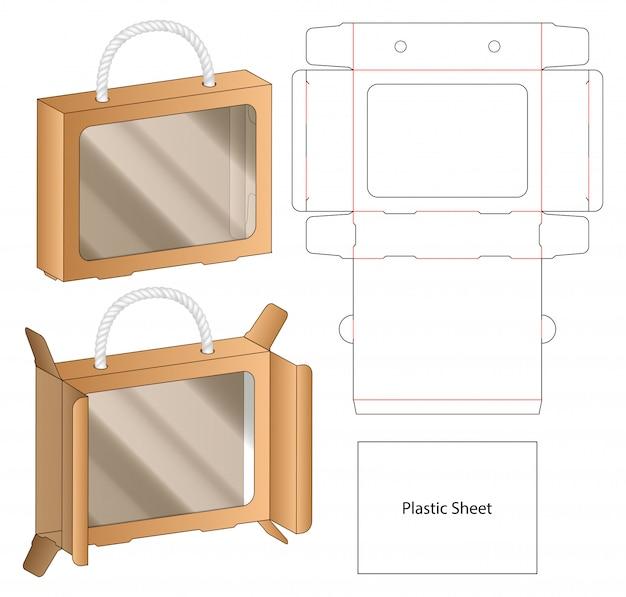 Box packaging die cut template . 3d