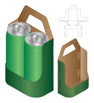 ボックス包装ダイカットテンプレートデザイン3dモックアップ