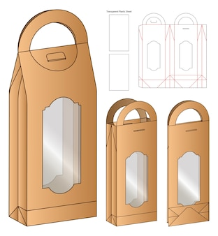 Box packaging die cut template design. 3d