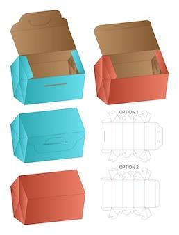 ボックス包装ダイカットテンプレートデザイン3d