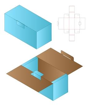 상자 포장 다이 컷 템플릿 디자인 모형