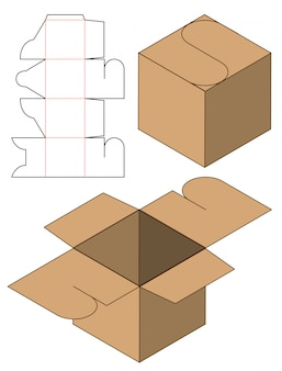 Box packaging die cut template design.