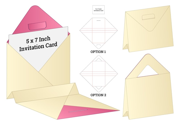 Box packaging die cut template design.